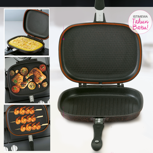 Non-Stick Die-Casting Double Grill Pan