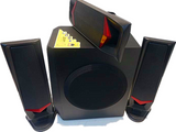 Jerry Power JR-M3 Multimedia Home Theatre System - 3.1Ch Black/Red