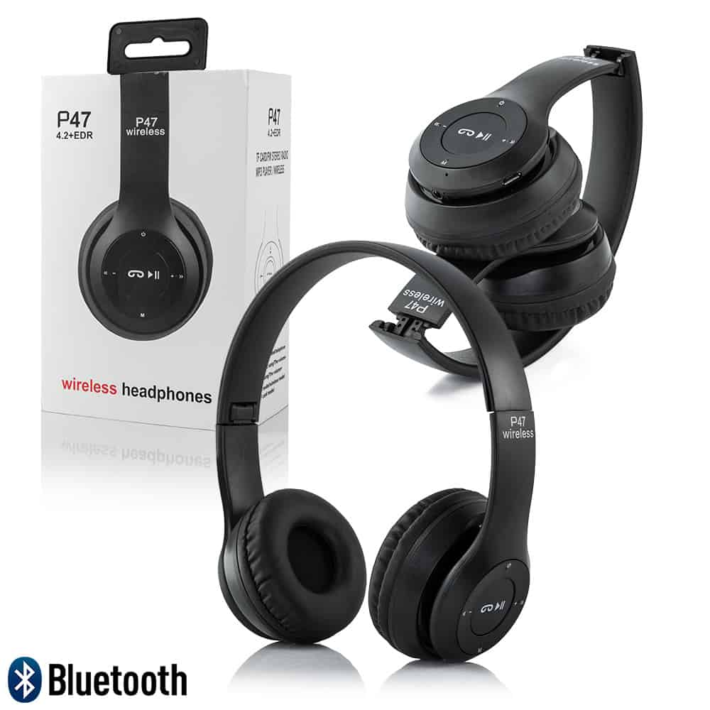 P47 Foldable Wireless Bluetooth Headphones