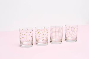 Gold Rocks Glasses Sets