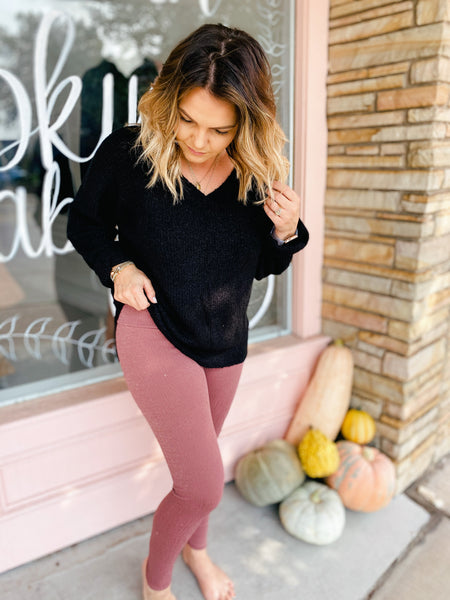 Mauve Metallic Legging