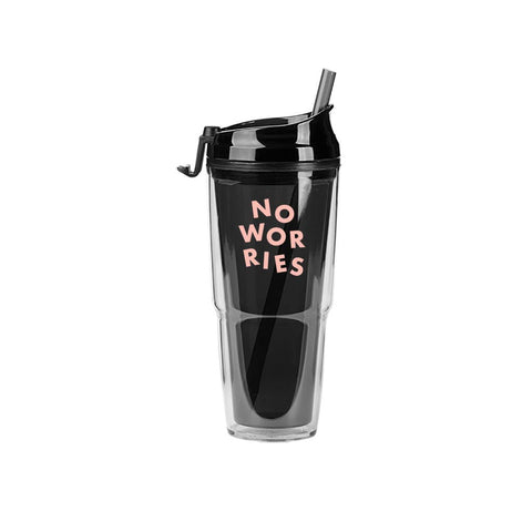 No Worries - Plastic Tumblers