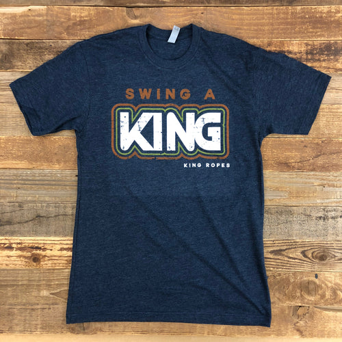 Men's Swing a King Tee - Midnight Navy