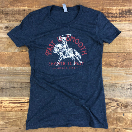 Women's Fast is Smooth Tee - Midnight Navy