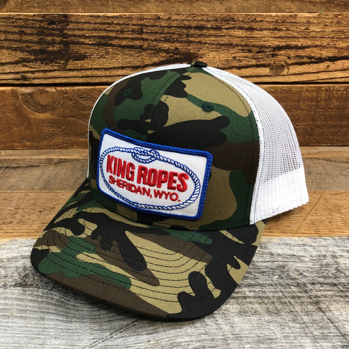 King Ropes Patch Trucker Hat - Camo/White