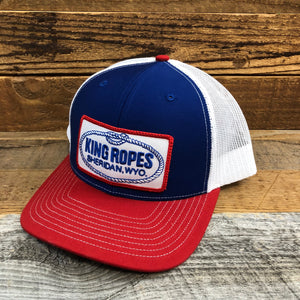 King Ropes Patch Trucker Hat - Red/White/Blue