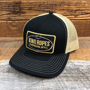 King Ropes Patch Trucker Hat - Black/Vegas Gold