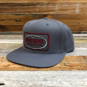 King Ropes Patch Flatbill Hat - Grey/Maroon