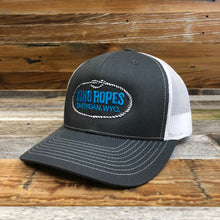 Load image into Gallery viewer, Original King Ropes Trucker Hat - Charcoal/White