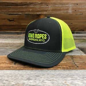 Original King Ropes Trucker Hat - Charcoal/Neon Yellow