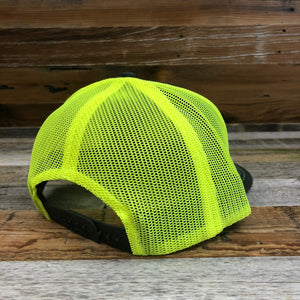 King Ropes Patch Trucker Hat - Charcoal/Neon Yellow