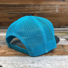 Load image into Gallery viewer, Original King Ropes Trucker Hat - Charcoal/Neon Blue