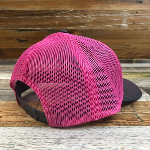Original King Ropes Trucker Hat - Charcoal/Pink