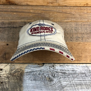 King Ropes USA Outdoor Trucker Hat - Khaki