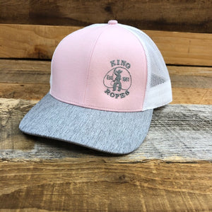 KING ROPER Trucker Hat - Pink/Heather Grey
