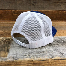 Load image into Gallery viewer, KING ROPER Trucker Hat - Royal Blue/White