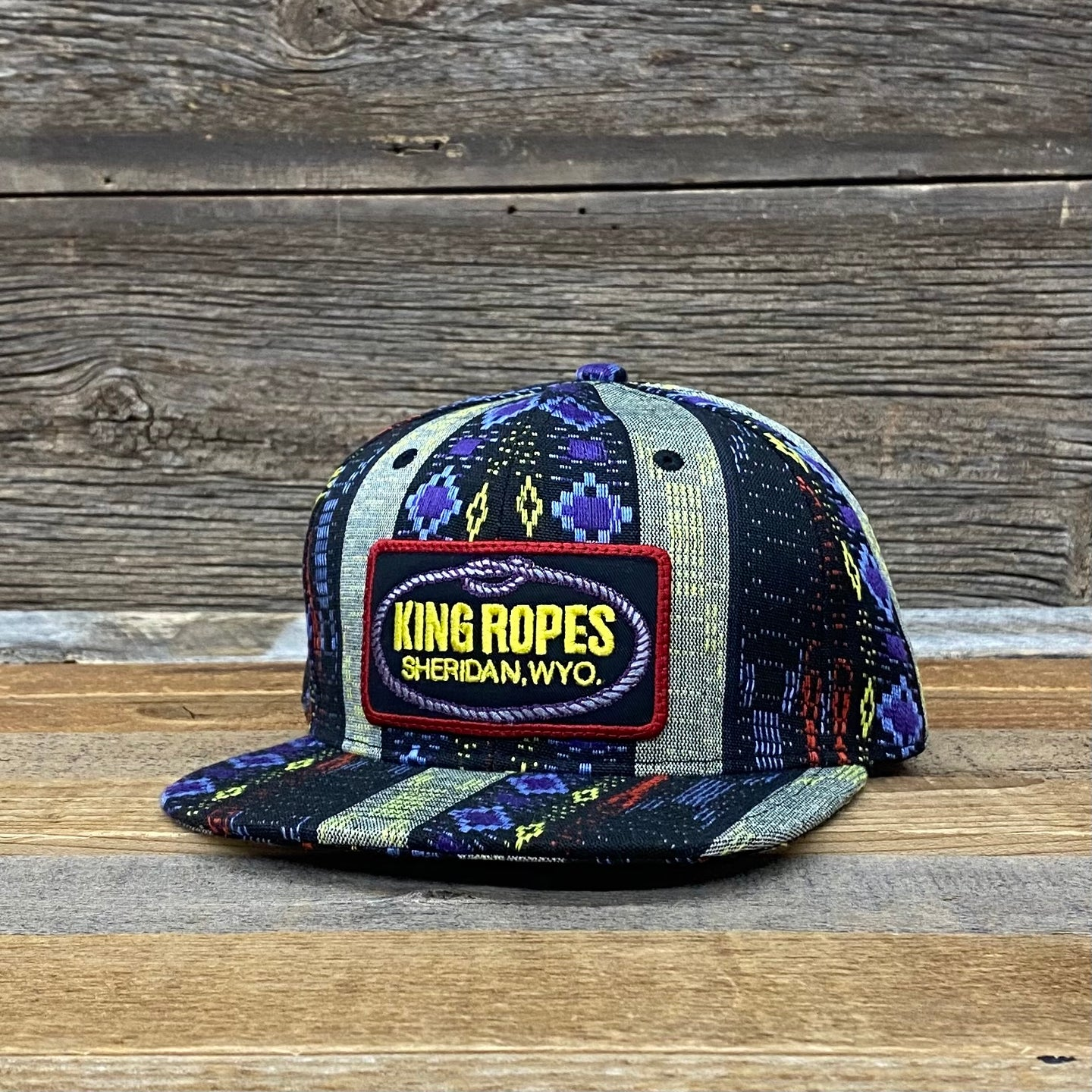 King Ropes Patch Aztec Flat Bill Hat