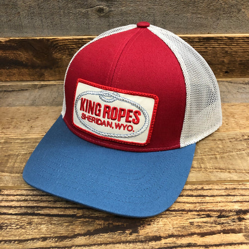 King Ropes Patch Trucker Hat - Neutral RWB