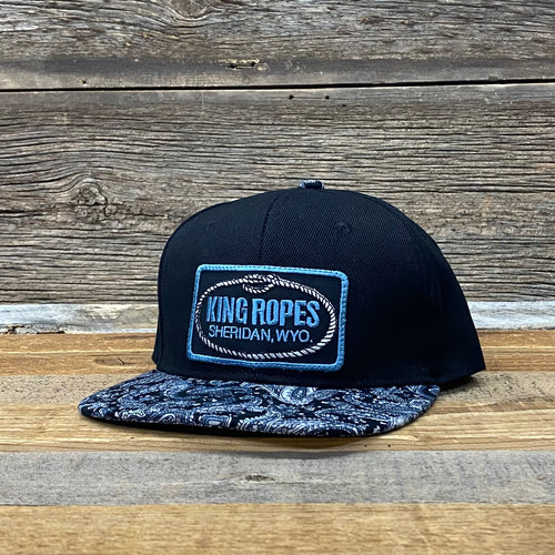 King Ropes Patch Paisley Flat Bill Hat