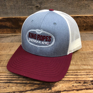 Original King Ropes Trucker Hat - Maroon/Grey/Birch