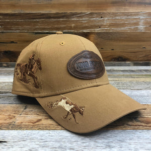 KR Leather Patch Trucker Hat - Dri Duck Team Roper