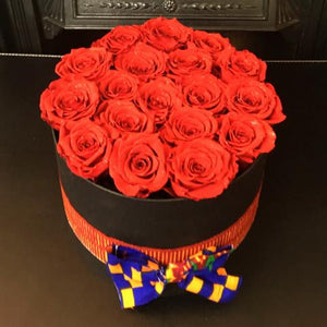 Beautiful Fabric Bow Hatbox Arrangement