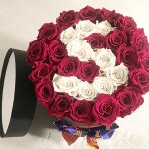 Large Luxury Lettering Hatbox Arrangement