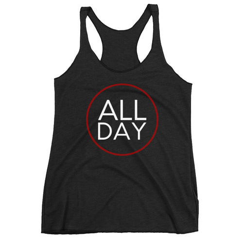 White and Red All Day Tank