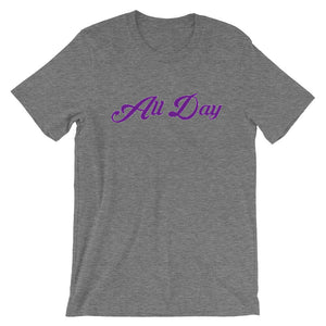 Minnesota Purple Cursive All Day T-Shirt