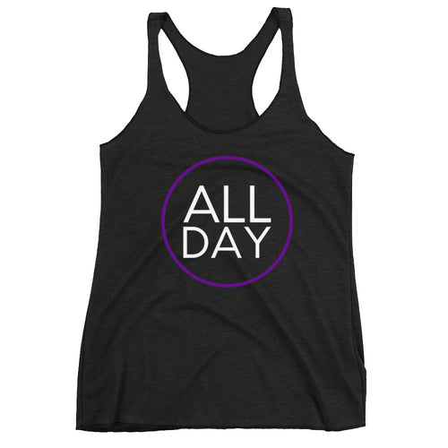 White and Purple All Day Tank
