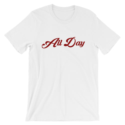 Red Cursive All Day T-Shirt