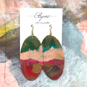 "Hand Painted Earrings ""Sorbet"""