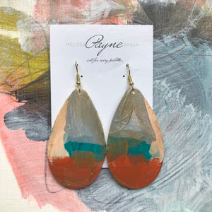 "Hand Painted Earrings ""Circus"""