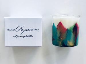 "Hand Painted Candle ""Cheer"""