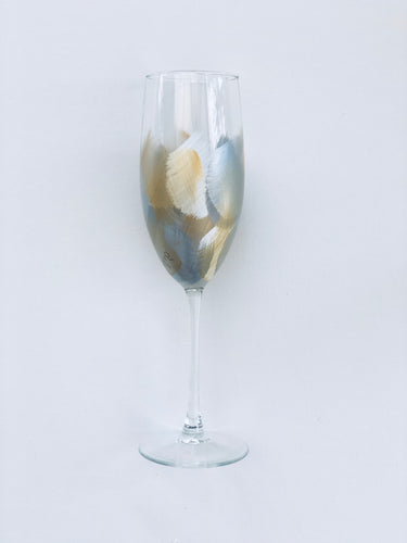 Hand Painted Champagne Glass