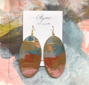 "Hand Painted Earrings ""Spunky"""