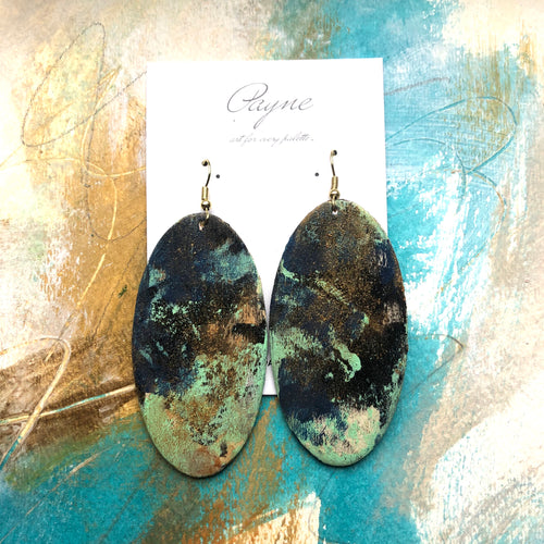"Hand Painted Earrings ""Mint To Be"""