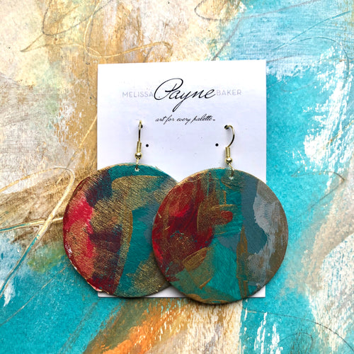 "Hand Painted Earrings ""Cinnamon"""