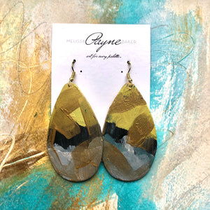 "Hand Painted Earrings ""Sassy"""