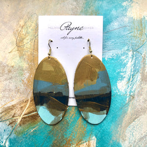 "Hand Painted Earring ""Making Waves"""