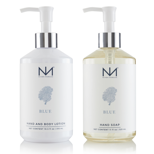 Coming Soon- Blue Soap and Lotion Set