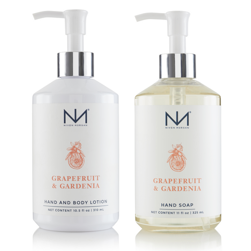 Grapefruit and Gardenia Soap and Lotion Set