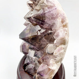 One of a Kind  Super Seven Amethyst Cluster with Stand