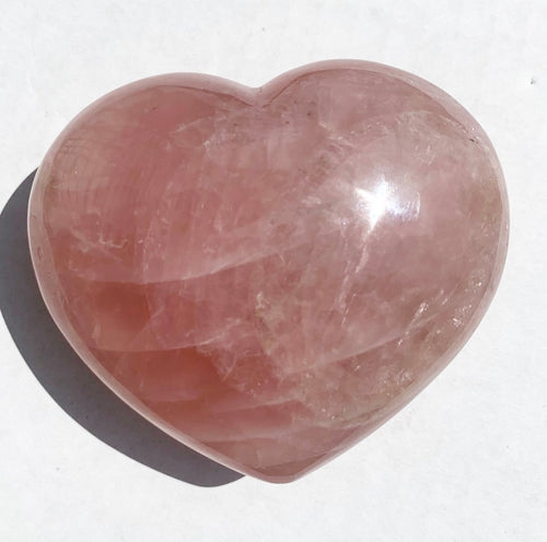 XL Rose Quartz Heart