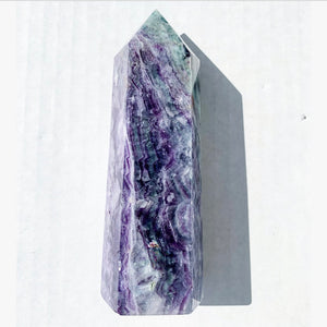 "5.57"" Rainbow Fluorite Tower"
