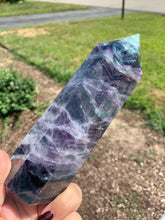 "Load image into Gallery viewer, Large 7.14"" Rainbow Fluorite Tower"