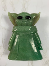 Load image into Gallery viewer, Hand Carved Baby Yoda