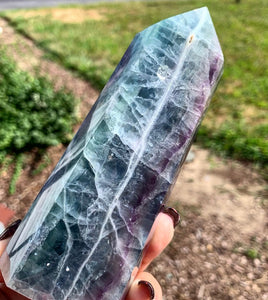 "5.7"" Rainbow Fluorite Tower"