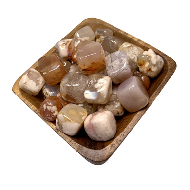 Flower Agate Cubes