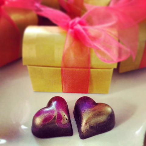 Masala Chocolates heart wedding favors